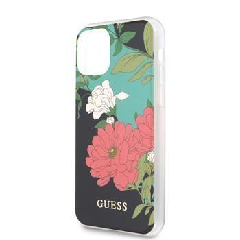 Guess GUHCN65IMLFL01 Guess Flower Shiny N.1 Zadní Kryt pro iPhone 11 Pro Max Black