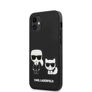 Karl Lagerfeld KLHCP12SPCUSKCBK Karl Lagerfeld PU Karl &Choupette Kryt pro iPhone 12 mini 5.4 Black
