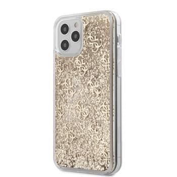 Guess GUHCP12LLG4GSLG Guess 4G Liquid Glitter Zadní Kryt pro iPhone 12 Pro Max 6.7 Gold