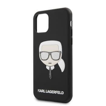 Karl Lagerfeld KLHCN58GLBK Karl Lagerfeld Embossed Glitter Kryt pro iPhone 11 Pro Black