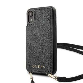 Guess GUHCI61CB4GG Guess 4G Crossbody Cardslot Kryt pro iPhone XR Grey