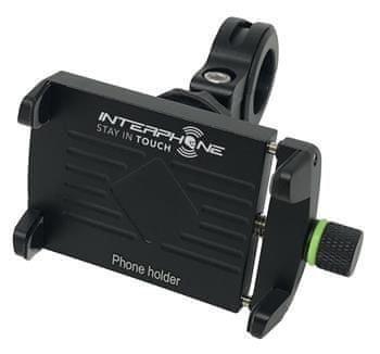 Interphone Univerzální držák Interphone CRAB Evo Alu s odolnou konstrukcí, úchyt na řídítka
