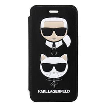 Karl Lagerfeld KLFLBKI8KICKC Karl Lagerfeld Choupette Book Pouzdro Black pro iPhone 7/8/SE2020