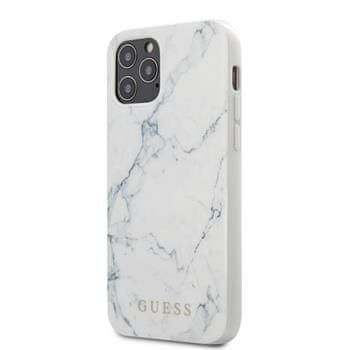 Guess GUHCP12SPCUMAWH Guess PC/TPU Marble Zadní Kryt pro iPhone 12 mini 5.4 White