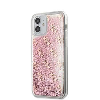 Guess GUHCP12SLG4GSPG Guess 4G Liquid Glitter Zadní Kryt pro iPhone 12 mini 5.4 Pink