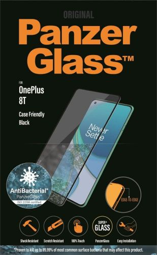 PanzerGlass Edge-to-Edge Antibacterial pro OnePlus 8T 7016, černé