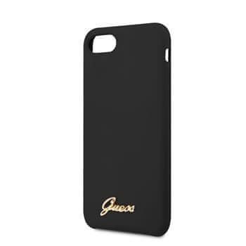 Guess GUHCI8LSLMGBK Guess Retro Silikonový Kryt pro iPhone 8/SE2020 Black