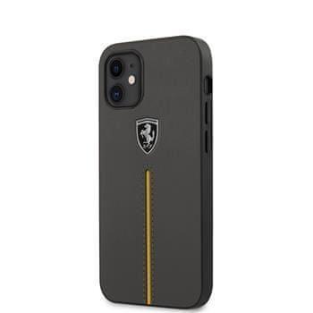 Ferrari FEOMSHCP12SDG Ferrari Off Track Kožený kryt pro iPhone 12 mini 5.4 Dark Grey