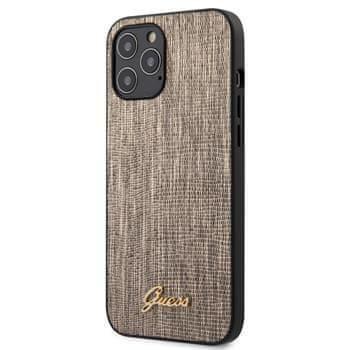 Guess GUHCP12LPCUMLLIGO Guess Lizard Zadní Kryt pro iPhone 12 Pro Max 6.7 Gold