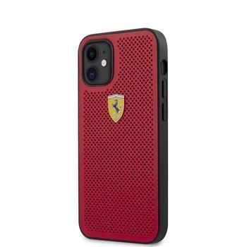 Ferrari FESPEHCP12SRE Ferrari On Track Perforated Zadní Kryt pro iPhone 12 mini 5.4 Red