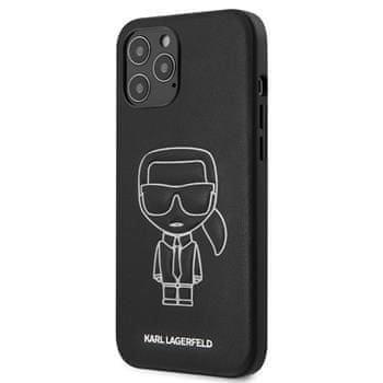 Karl Lagerfeld KLHCP12LPCUIKWH Karl Lagerfeld PU Embossed Kryt pro iPhone 12 Pro Max 6.7 White