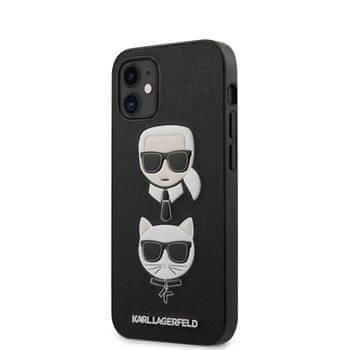 Karl Lagerfeld KLHCP12SSAKICKCBK Karl Lagerfeld Saffiano K&C Heads Kryt pro iPhone 12 mini 5.4 Black