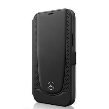 MERCEDES MEFLBKP12LARMBK Mercedes Perforated Leather Book Pouzdro pro iPhone 12 Pro Max 6.7 Black