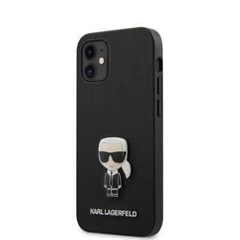 Karl Lagerfeld KLHCP12SIKMSBK Karl Lagerfeld Saffiano Iconic Kryt pro iPhone 12 mini 5.4 Black