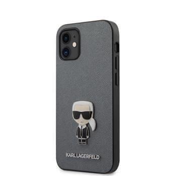 Karl Lagerfeld KLHCP12SIKMSSL Karl Lagerfeld Saffiano Iconic Kryt pro iPhone 12 mini 5.4 Silver