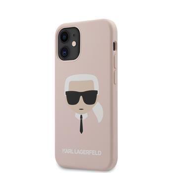 Karl Lagerfeld KLHCP12SSLKHLP Karl Lagerfeld Head Silikonový Kryt pro iPhone 12 mini 5.4 Light Pink