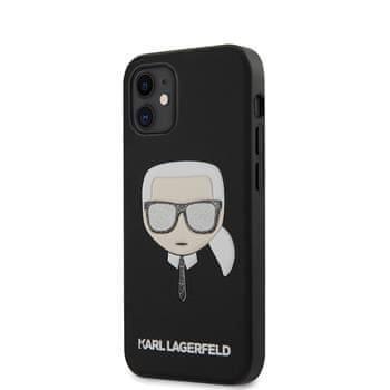 Karl Lagerfeld KLHCP12SGLBK Karl Lagerfeld Glitter Head Kryt pro iPhone 12 mini 5.4 Black