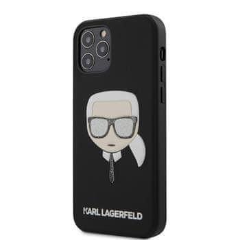 Karl Lagerfeld KLHCP12LGLBK Karl Lagerfeld Glitter Head Kryt pro iPhone 12 Pro Max 6.7 Black
