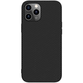 Nillkin Synthetic Fiber Ochranný Zadní Kryt pro iPhone 12 Pro Max 6.7 Black