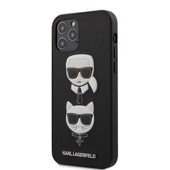 Karl Lagerfeld KLHCP12MSAKICKCBK Karl Lagerfeld Saffiano K&C Heads Kryt pro iPhone 12/12 Pro 6.1 Black