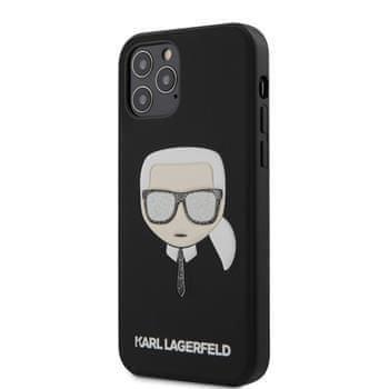 Karl Lagerfeld KLHCP12MGLBK Karl Lagerfeld Glitter Head Kryt pro iPhone 12/12 Pro 6.1 Black