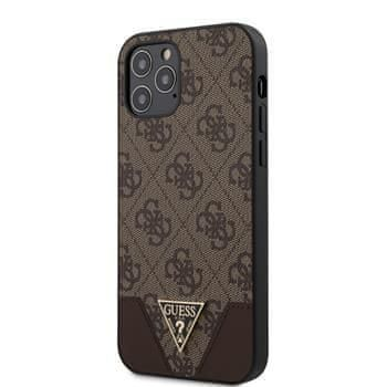 Guess GUHCP12MPU4GHBR Guess 4G Triangle Zadní Kryt pro iPhone 12/12 Pro 6.1 Brown