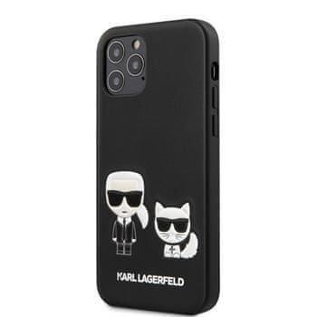 Karl Lagerfeld KLHCP12MPCUSKCBK Karl Lagerfeld PU Karl &Choupette Kryt pro iPhone 12/12 Pro 6.1 Black