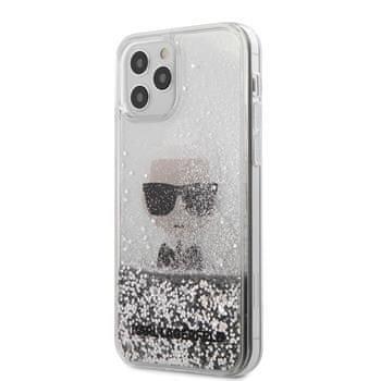 Karl Lagerfeld KLHCP12MGLIKSL Karl Lagerfeld Liquid Glitter Iconic Kryt pro iPhone 12/12 Pro 6.1 Silver