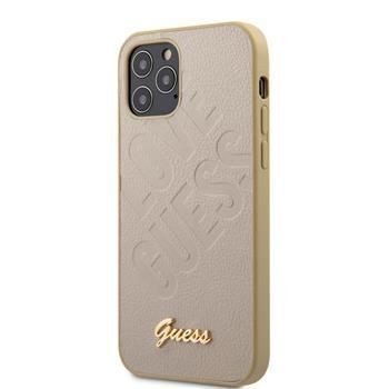 Guess GUHCP12MPUILGLG Guess Iridescent Love Zadní Kryt pro iPhone 12/12 Pro 6.1 Gold