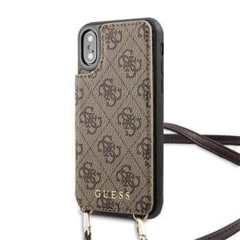 Guess GUHCPXCB4GB Guess 4G Crossbody Cardslot Kryt pro iPhone X/XS Brown