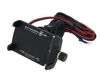 Interphone Univerzální držák Interphone CRAB Evo Alu s odolnou konstrukcí a nabíječkou, úchyt na řídítka
