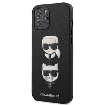Karl Lagerfeld KLHCP12LSAKICKCBK Karl Lagerfeld Saffiano K&C Heads Kryt pro iPhone 12 Pro Max 6.7 Black