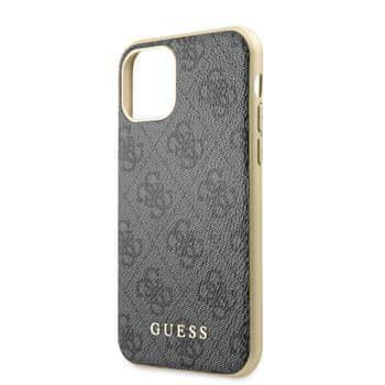 Guess GUHCN61G4GG Guess 4G Zadní Kryt pro iPhone 11 Grey
