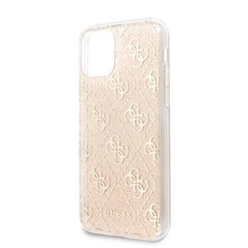 Guess GUHCN61PCU4GLGO Guess 4G Glitter Zadní Kryt pro iPhone 11 Gold