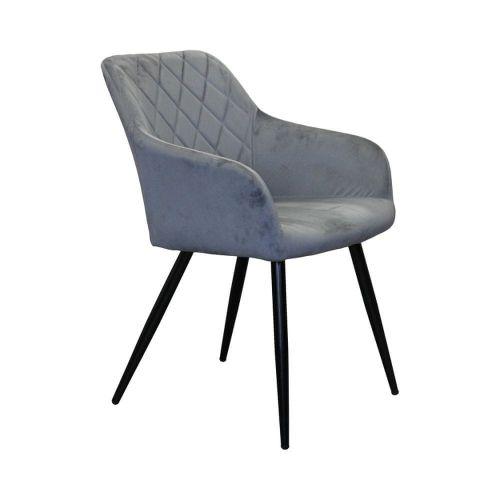 IDEA nábytek Jídelní židle DIAMANT šedý samet