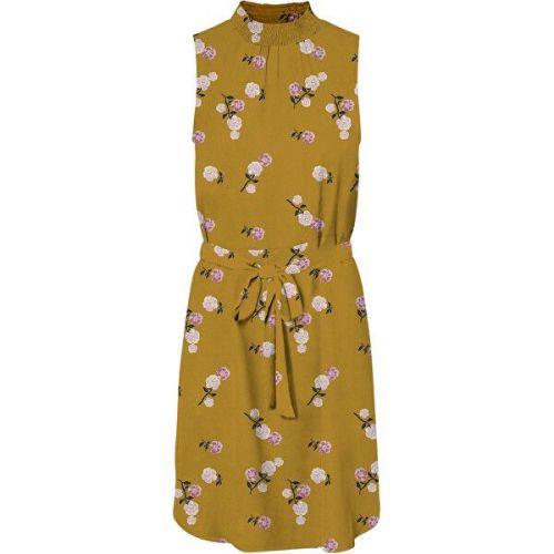 Vero Moda Dámské šaty VMFALLIE SMOCK 10233520 Chai Tea (Velikost XS)
