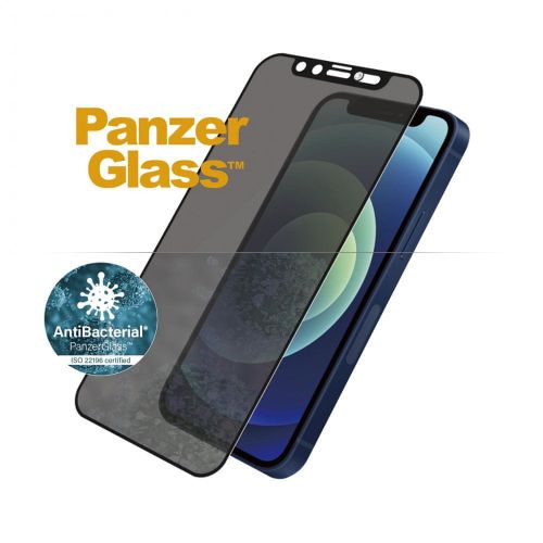 PanzerGlass Edge-to-Edge Privacy Antibacterial pro Apple iPhone 12 mini se Swarowski CamSlider P2716, černé