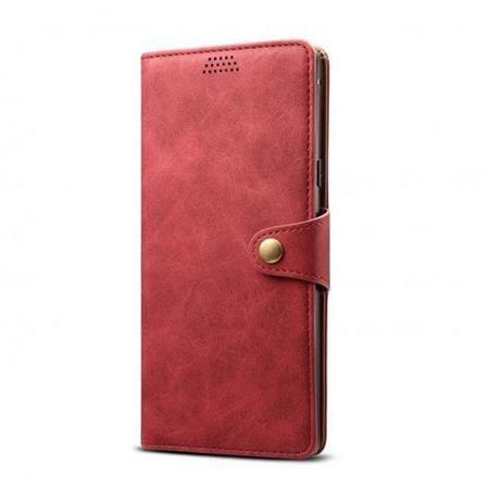 Xiaomi Lenuo Leather pro iPhone 12/12 Pro, červená