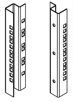 """Legrand EvoLine zadní vertikální lišty 16U (sada) pro 19"""" nástěnné rozvaděče výšky 16U"""