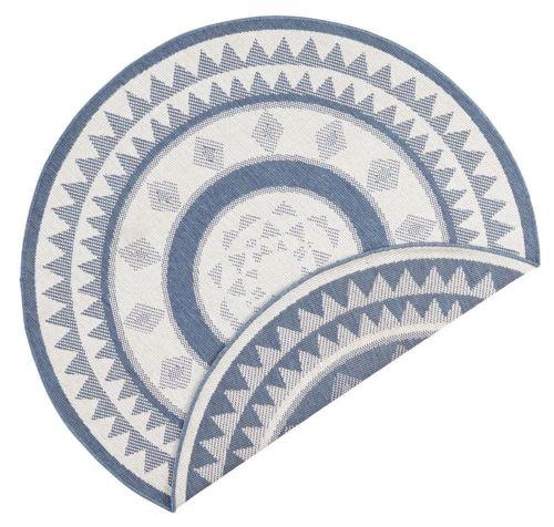Bougari AKCE: 140x140 (průměr) kruh cm Kusový koberec Twin Supreme 103414 Jamaica blue creme 140x140 (průměr) kruh