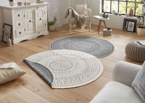 Bougari AKCE: 200x200 (průměr) kruh cm Kusový koberec Twin-Wendeteppiche 103143 creme graun 200x200 (průměr) kruh