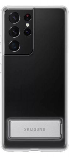 Samsung Průhledný zadní kryt se stojánkem pro S21 Ultra Transparent