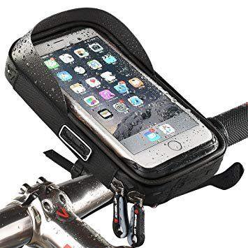 NONAME Tactical Pouzdro na Telefon na Řídítka max 6inch se Sluneční Clonou Black