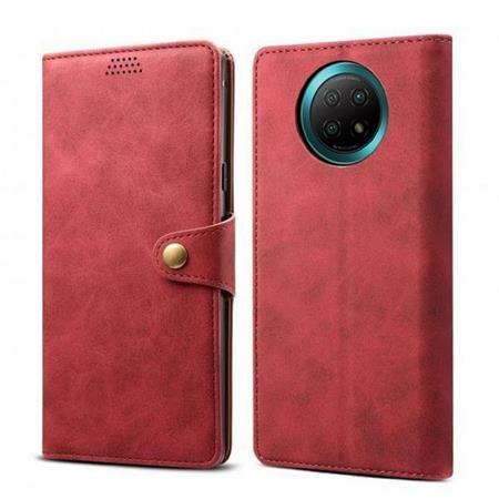 Lenuo Leather pro Xiaomi Redmi Note 9T, červené