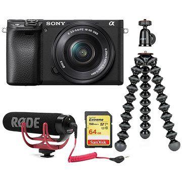 Sony Alpha A6400 + 16-50mm černá Vlogger Kit