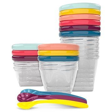 BABYMOOV Multi Set barevných misek s víčky (3661276147379)
