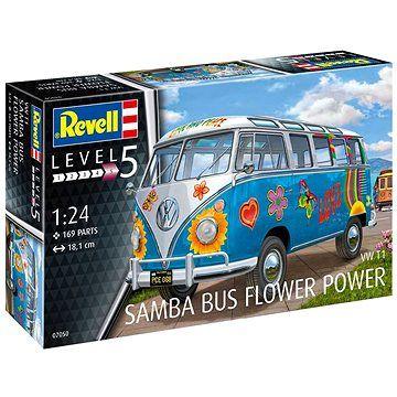 """Revell Plastic ModelKit auto 07050 - VW T1 Samba Bus """"Flower Power"""" (4009803070506)"""