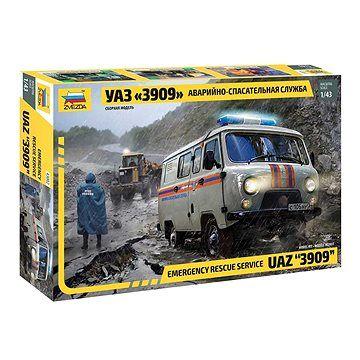 "Zvezda Model Kit auto 43002 - Emergency Service UAZ ""3909"" (4600327430021)"