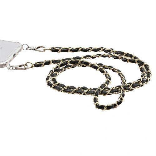 Hama spol s r.o. Hama šňůrka pro Cross-Body kryty/ pouzdra, koženka/ kov, černá/ zlatá