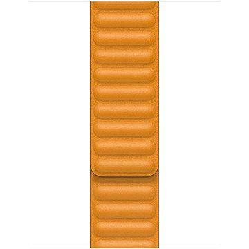 Řemínek Apple 40mm měsíčkově oranžový kožený tah